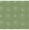 chestnut leaves pattern vector image