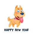 2018 year of dog on white background winter vector image