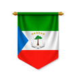 3d realistic pennant with flag vector image vector image