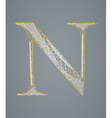 Abstract golden letter N vector image vector image