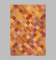 abstract modern gradient geometrical square flyer vector image vector image