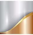 abstract precious metallic background with curve vector image vector image