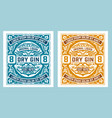 antique label with gin liquor design vector image vector image
