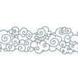 asian cloud pattern chinese japanese oriental vector image