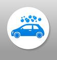 car wash sign logo vector image vector image