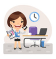 cartoon businesswoman manager vector image