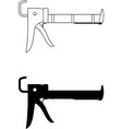 caulking gun vector image vector image