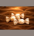 chocolate truffle candy in red wrapping vector image vector image