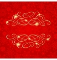 Christmas and New Year background greeting card vector image vector image