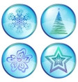 christmas icons buttons vector image