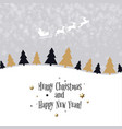 christmas wallpaper with xmas tree vector image