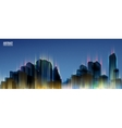 City Skylines Blue night background Panorama vector image