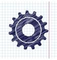 cogwheel icon Eps10 vector image vector image