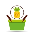 commerce basket pineapple vector image vector image