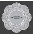 decorative design element with a circular pattern vector image vector image