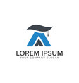 education logo letter a logo design concept vector image