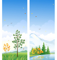 Fall vertical banners vector image