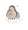 Family cute hedgehogs Mom and kids Cartoon vector image vector image