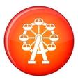 Ferris wheel icon flat style vector image vector image