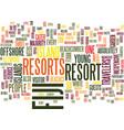 fiji resorts text background word cloud concept vector image vector image