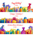 gift box and present packaging banner border vector image vector image
