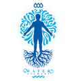 graphic of strong male body silhouette deriving vector image vector image