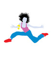 Happy Hip Hop Jumping vector image vector image