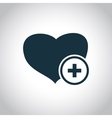 Heart and cross medical symbol vector image
