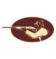 hunter shooting aiming shotgun vector image vector image
