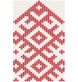 knitted christmas pattern vector image vector image