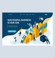 landing page for business solutions vector image vector image