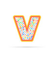 letter v with group of dots icon sign vector image vector image
