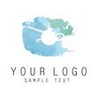 logo aquarelle vector image vector image
