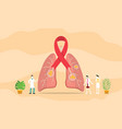 lungs cancer spot concept with team people of vector image vector image