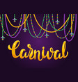 mardi gras party greeting or invitation card vector image vector image