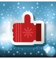 merry christmas card with decorative element vector image