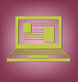 notebook laptop icon vector image