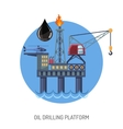 Oil drilling platform concept vector image