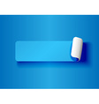 peeling label blue on blue vector image vector image