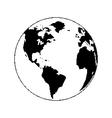 Pixel planet vector image