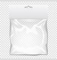 plastic pocket bag mock up template vector image vector image