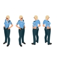 Police woman in uniform Police woman icon Police vector image vector image