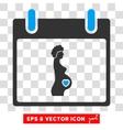 Pregnant Woman Calendar Day Eps Icon vector image vector image