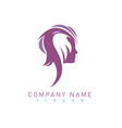 profile woman logo vector image