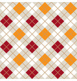 red and orange argyle harlequin seamless pattern vector image vector image