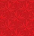 Red maple leaves on checkered background vector image vector image