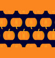ripe pumpkin on a blue background vector image vector image
