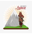 Samurai man cartoon design vector image vector image