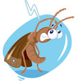 scared moth insect cartoon vector image