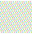 seamless pattern with multicolored dots isolated vector image vector image